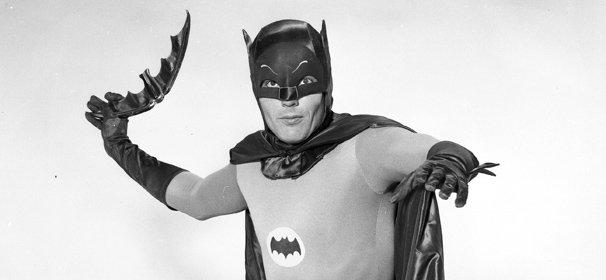Adam West as Batman in a publicity photo