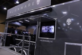 The Alienware truck had a VR setup and streams throughout the weekend.