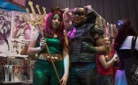Phoenix natives Alisa Bouthner and Marsalis Lesure attend the first day of Ace Comic Con in Mera and Arrow cosplay. (Photo by Melina Zuniga/Cronkite News)