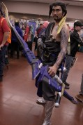 Overwatch proved to be a popular theme at the convention as well, with Hanzo remaining at the ready.