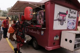 Not quite chimichangas, but food trucks at the event were well received by attendees.