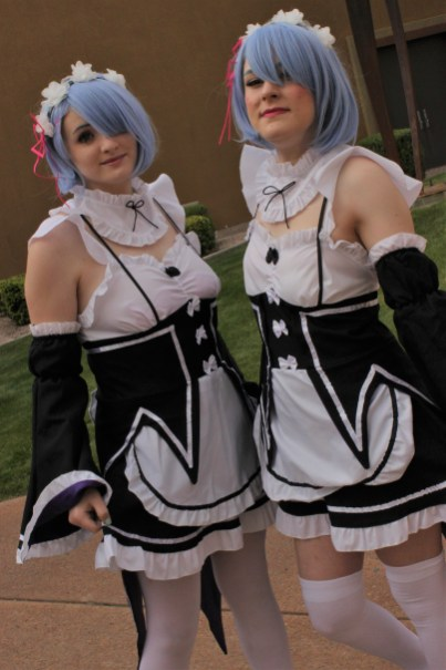 Seeing double: Re:Zero's Rem was cosplayed with this pair.