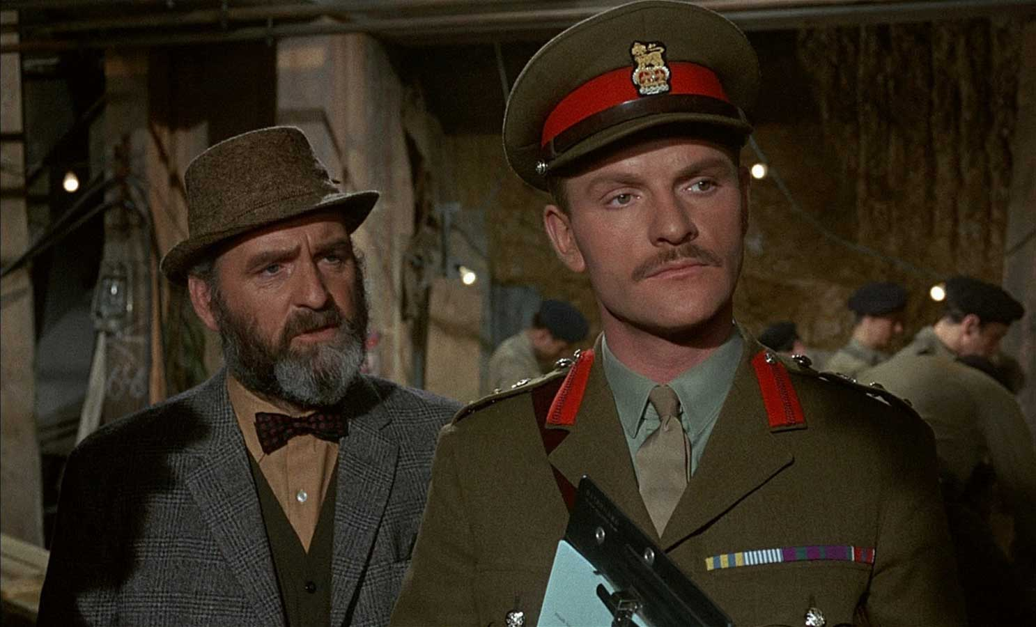Andrew Keir and Julian Glover in Five Million Years to Earth, aka Quatermass and the Pit.