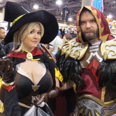 Nothing like a little crossover with this Overwatch Mercy and World of Warcraft Medivh duo. Photo by Justin Franco.