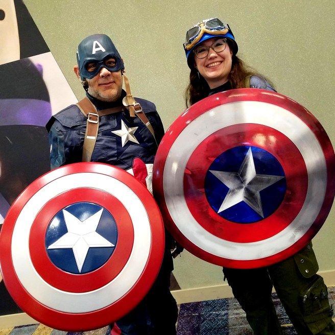 Captain! Captain! Rogers, Rogers! They can do this all day at Phoenix Comic Fest, Friday, May 25, 2018, at the Phoenix Convention Center.