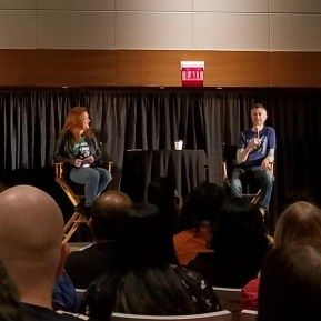 """""""Guardians of the Galaxy"""" actor Sean Gunn speaks at Phoenix Comic Fest, Friday, May 25, 2018, at the Phoenix Convention Center."""