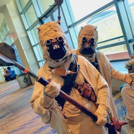 """Some """"Sand People,"""" aka Tusken Raiders, drifted in from the desert at Phoenix Comic Fest, Friday, May 25, 2018, at the Phoenix Convention Center."""