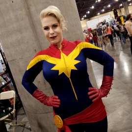 Having a Captain Marvel-ous time at Phoenix Comic Fest, Saturday, May 26, 2018, at the Phoenix Convention Center.