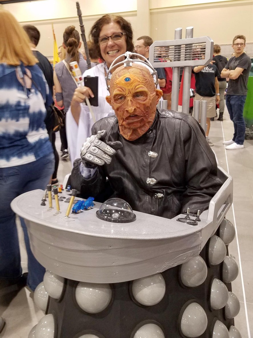 Davros, creator of Doctor Who's evil nemesis the Daleks - with Princess Leia? - at Phoenix Comic Fest, Saturday, May 26, 2018, at the Phoenix Convention Center.