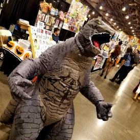 Roaring to go at Phoenix Comic Fest, Saturday, May 26, 2018, at the Phoenix Convention Center.