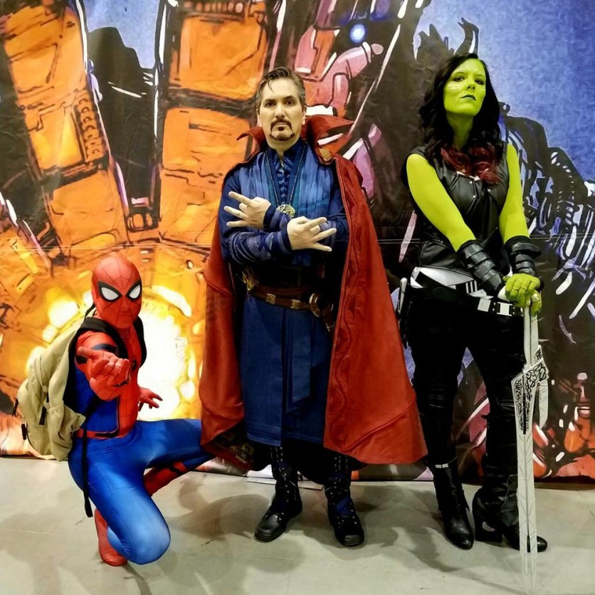 Spider-Man, Doctor Strange and Gamora cosplayers at Phoenix Comic Fest, Saturday, May 26, 2018, at the Phoenix Convention Center.