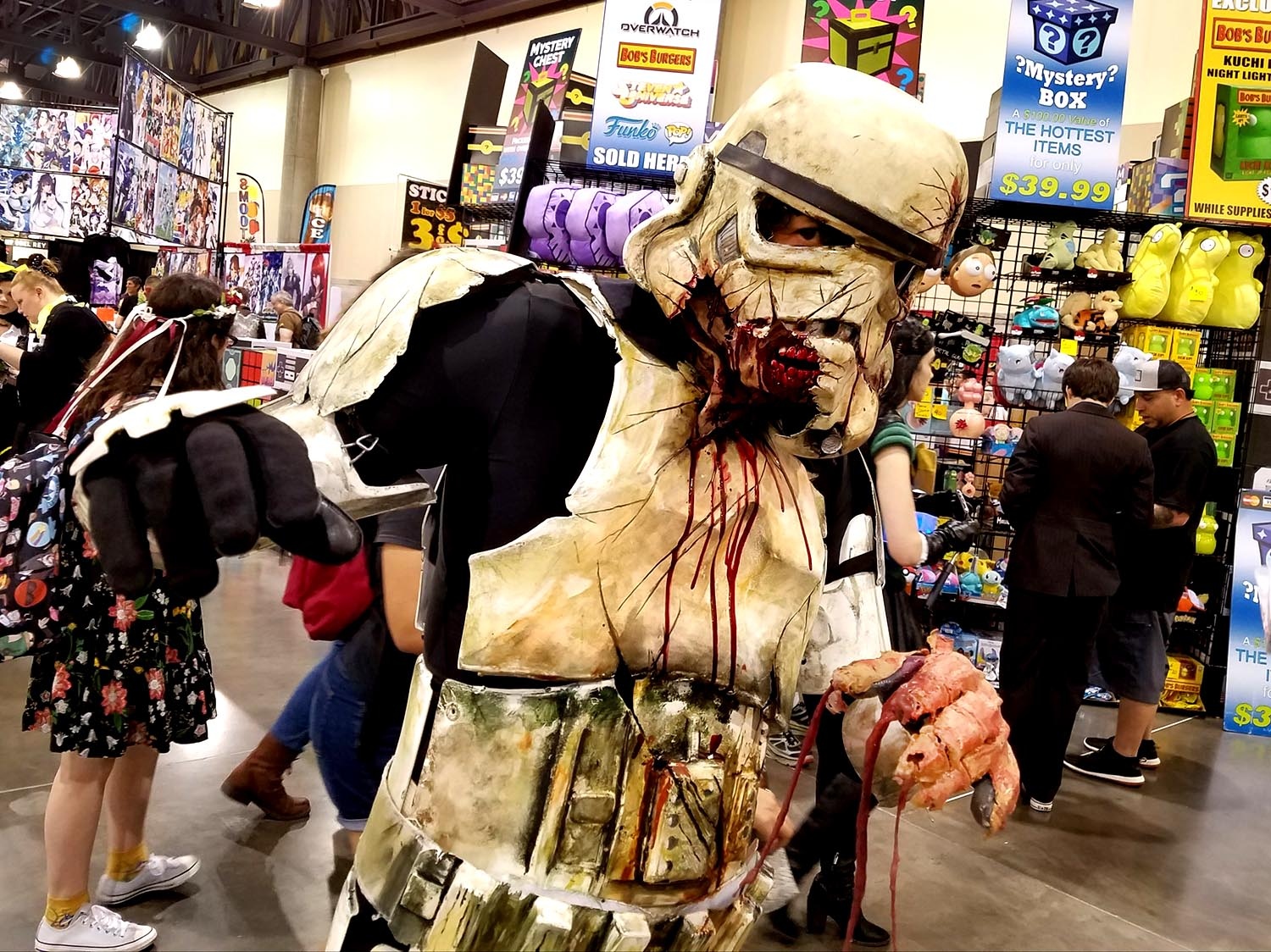 It's treason, then! An Imperial Stormtrooper defects to the ranks of The Walking Dead at Phoenix Comic Fest, Saturday, May 26, 2018, at the Phoenix Convention Center.