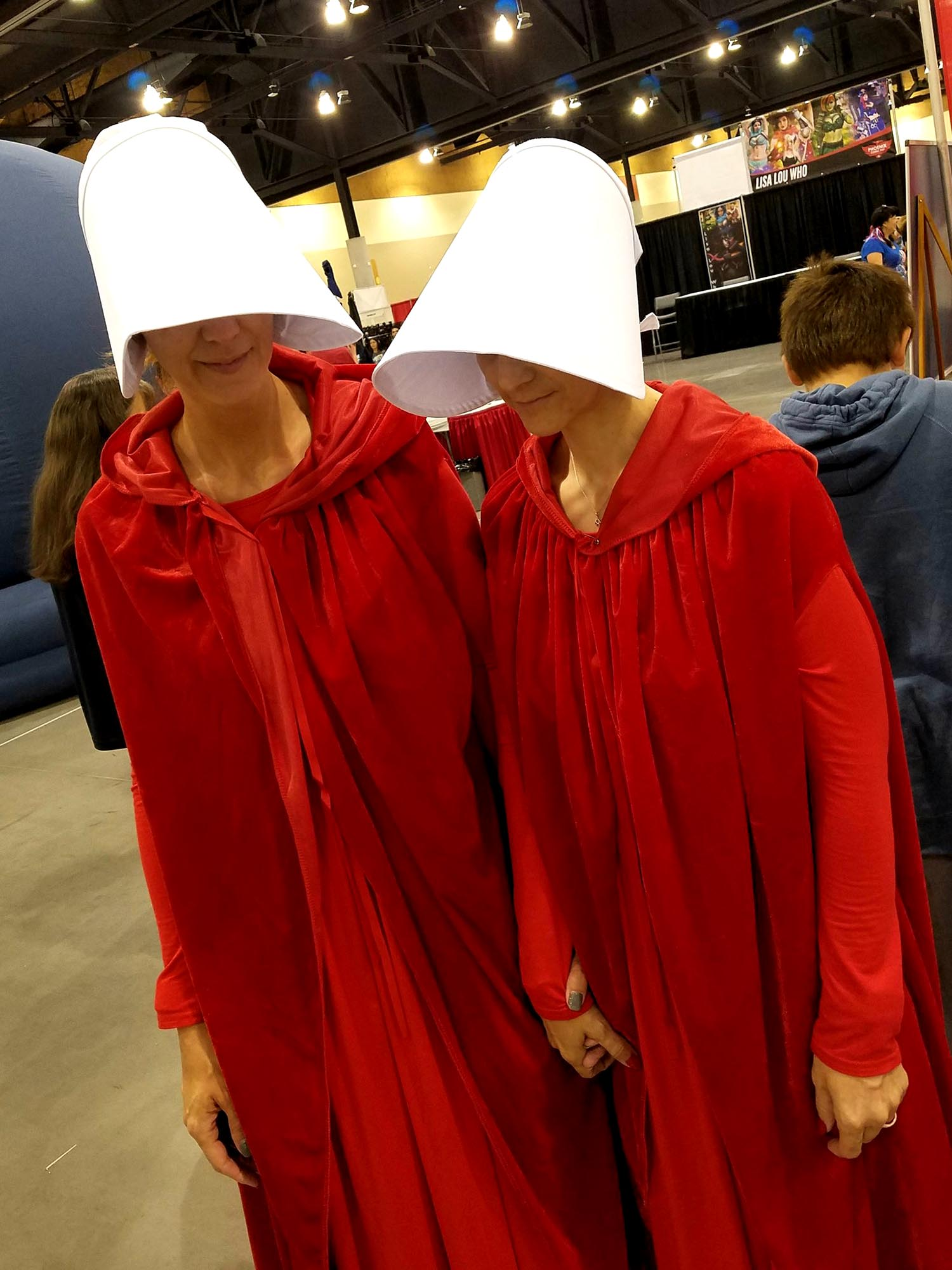 The Handmaid's Tale cosplay at Phoenix Comic Fest, Sunday, May 27, 2018, at the Phoenix Convention Center.