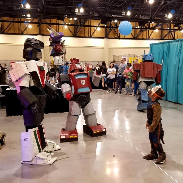 Transformers have a ball at Phoenix Comic Fest, Sunday, May 27, 2018, at the Phoenix Convention Center.