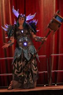 Expertly War-crafted World of Warcraft armor being shown off at the masquerade. Photo by Christen Bejar.