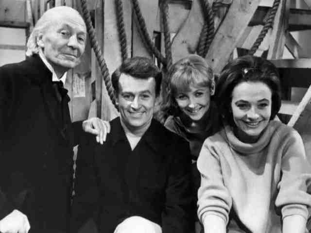 The First Doctor, Ian Chesterton, Vicki, and Barbara Wright. (BBC)