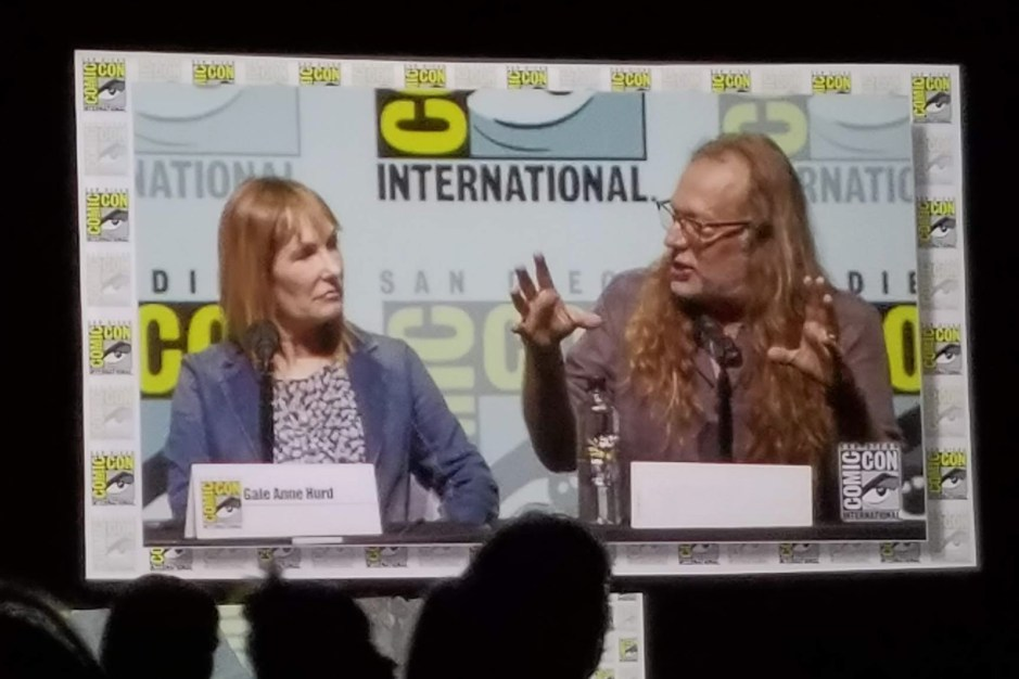 Gale Anne Hurd and Greg Nicotero