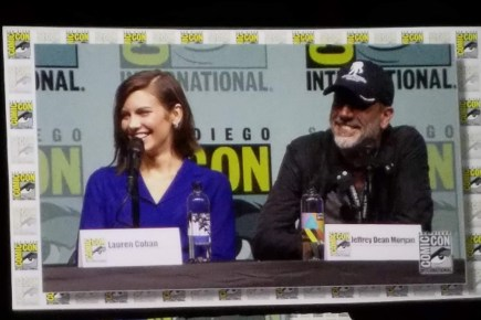 Lauren Cohan and Jeffrey Dean Morgan