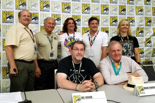 (Top, L-R) Scott Tracy Griffin, Jim Sullos, Harry Kloor, Matthew Rhodes, Cathy Wilbanks, (bottom, L-R) Joe Jusko, Mark Evanier