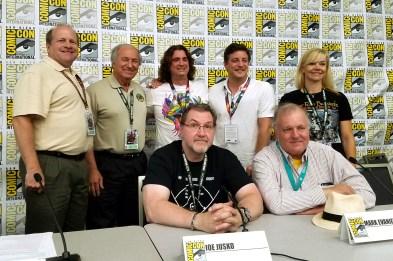 (Top, L-R) Scott Tracy Griffin, Jim Sullos, Harry Kloor, Matthew Rhodes, Cathy Wilbanks, (bottom, L-R) Joe Jusko, Mark Evanier