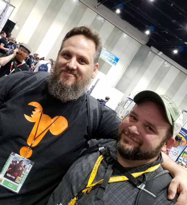 Denny Ricelli (left) and friend at San Diego Comic-Con 2018