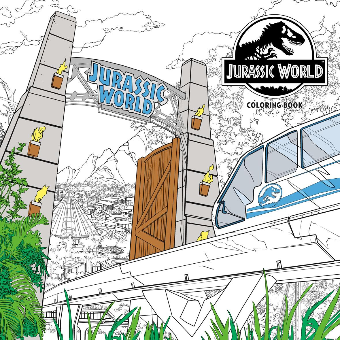 Jurassic World coloring book