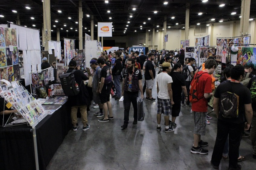 Evolution 2018 boasted a large artist alley for exhibitors to sell their fighting game themed merchandise.