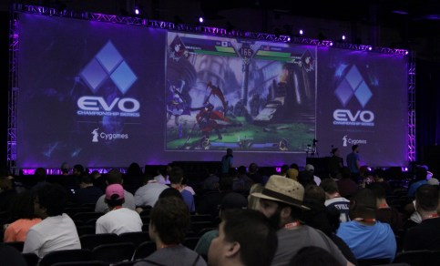 There were multiple stages in the main convention center for stream matches.