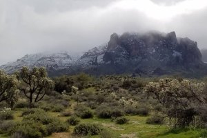 bobleep1 Snow on the Superstition Mountains - Friday, February 22, 2019.