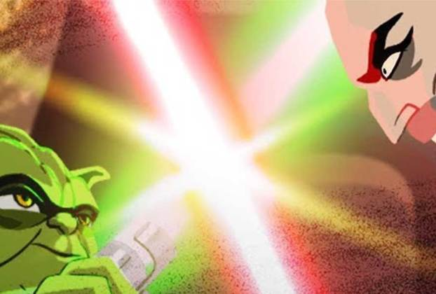 Yoda animated Star Wars Galaxy of Adventure