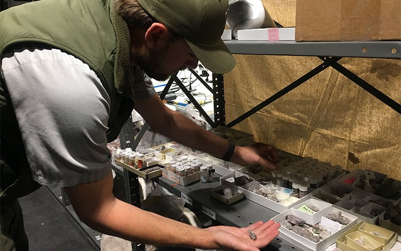 Adam Marsh, lead paleontologist at the Petrified Forest National Park, discovered the oldest fossil frogs in North America. (Photo by Adrian Marsh/Cronkite News)