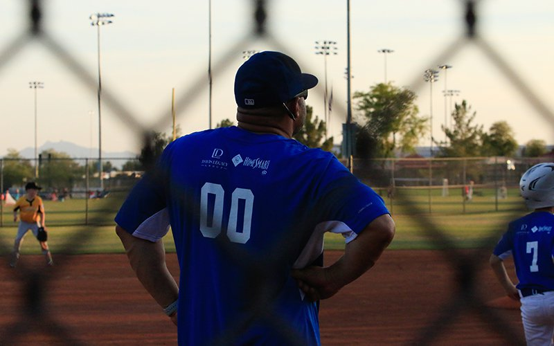 Former professional baseball player Kevin Forbes just missed the sport's data revolution. He's making sure his two boys don't miss it, too. (Photo by Tyler Dunn/Cronkite News)
