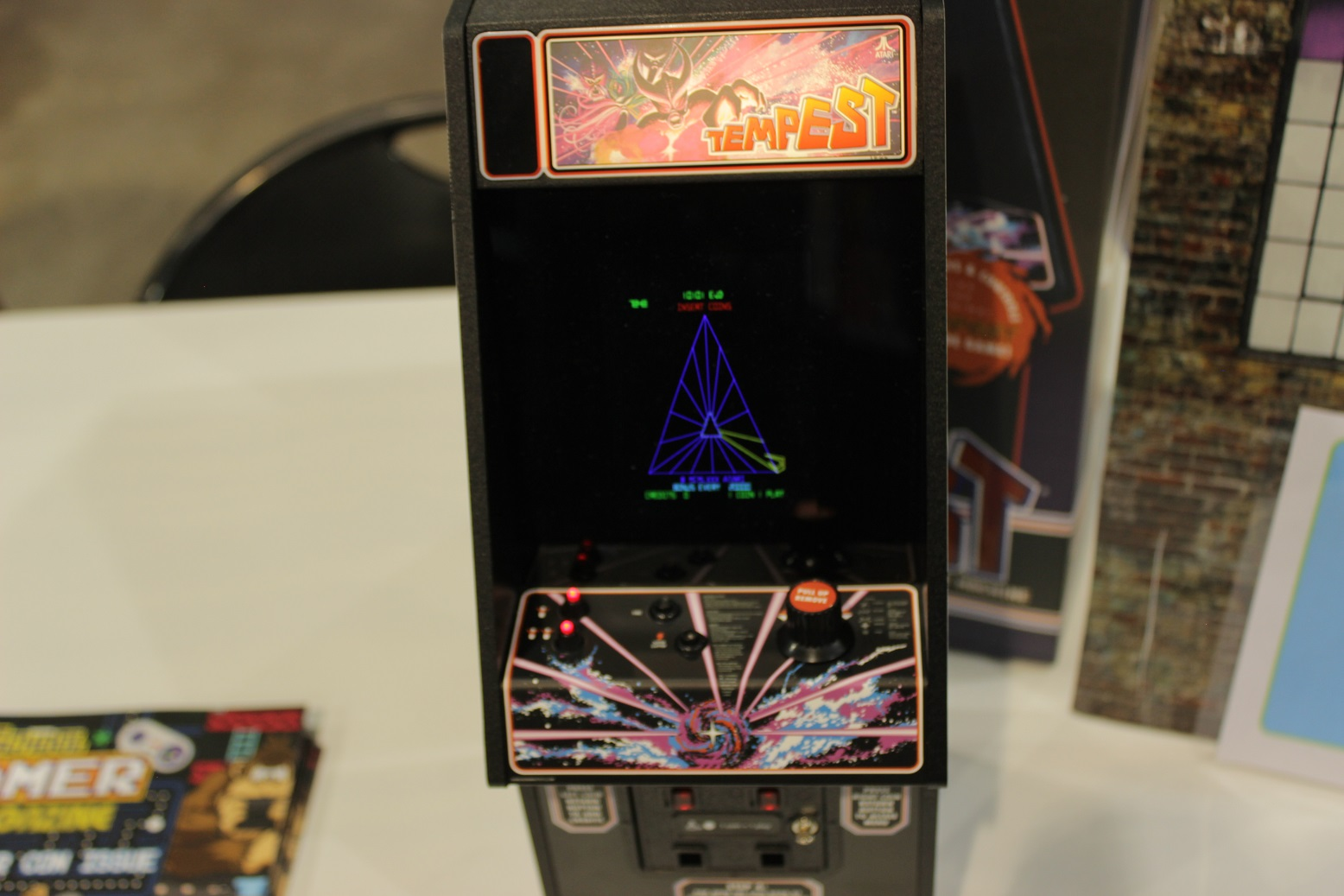 Good things in small packages: this mini Tempest arcade machine packed a punch. Photo by Justin Franco.