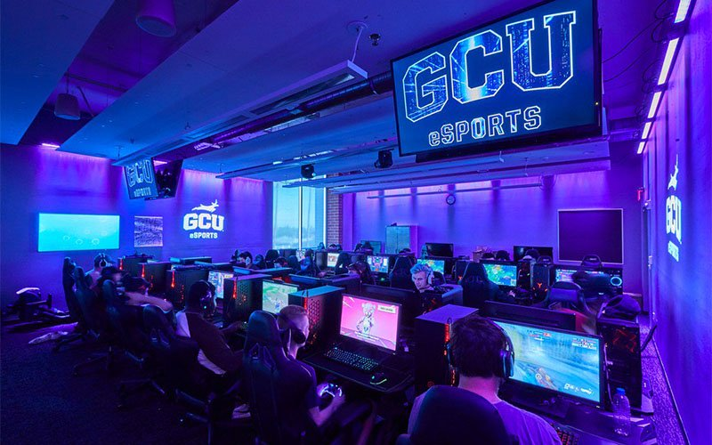 With GCU Esports' state-of-the-art practice facility, other Arizona schools have something to look up to when it comes to improving their esports programs.(Photo courtesy of GCU)