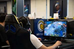 Institutional support for esports is on the rise, with schools like the University of California, Irvine offering official programs with fully-outfitted esports arenas. (Photo by Tanner Puckett/Cronkite News)