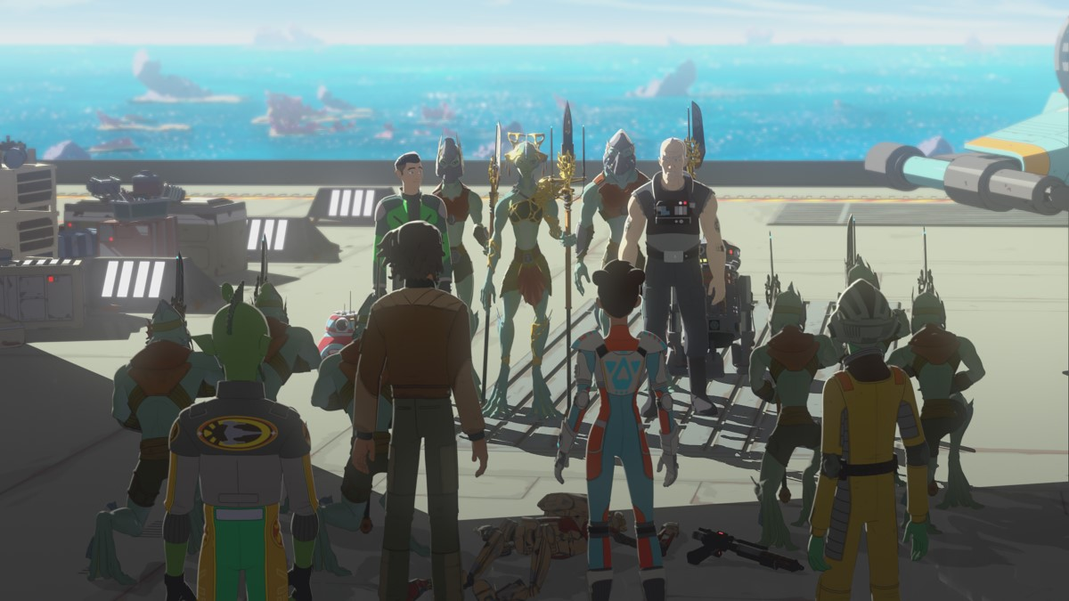 "Star Wars Resistance - The New World"" and ""No Place Safe"""