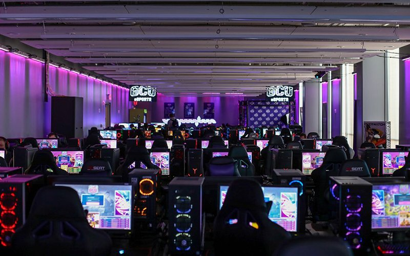 Grand Canyon's esports arena is one of the top collegiate facilities in the country. (Photo by Tanner Puckett/Cronkite News)