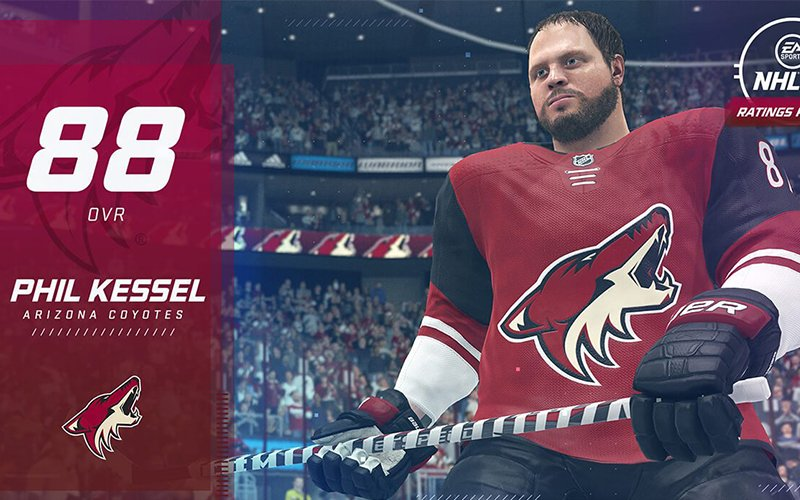 The Arizona Coyotes are live-streaming virtual games on their YouTube, Facebook and Twitch accounts with the help of the NHL 20 video game. (Photo courtesy of EA Sports)