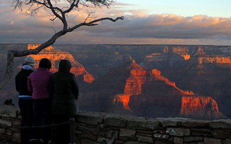 Tourists visit Grand Canyon National Park in this 2019 file photo. The park had been open, with limited services, during the coronavirus outbreak, but was closed abruptly by the National Park Service in the face of health worries. (Photo courtesy National Park Service)