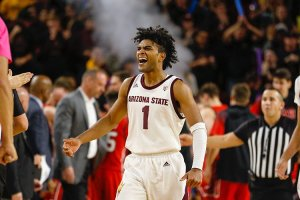 Arizona State Sun Devils guard Remy Martin had a successful outing in a recent virtual NCAA Tournament on Twitter. (Photo by Brady Klain/The Republic)