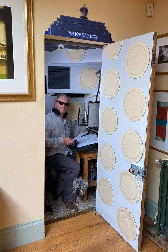 Peter Davison's home TARDIS studio