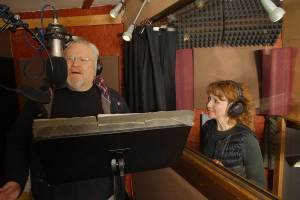 Colin Baker and Bonnie Langford (Tony Whitmore for Big Finish)
