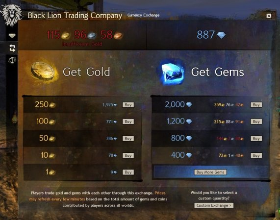 GW2_Gold exchange