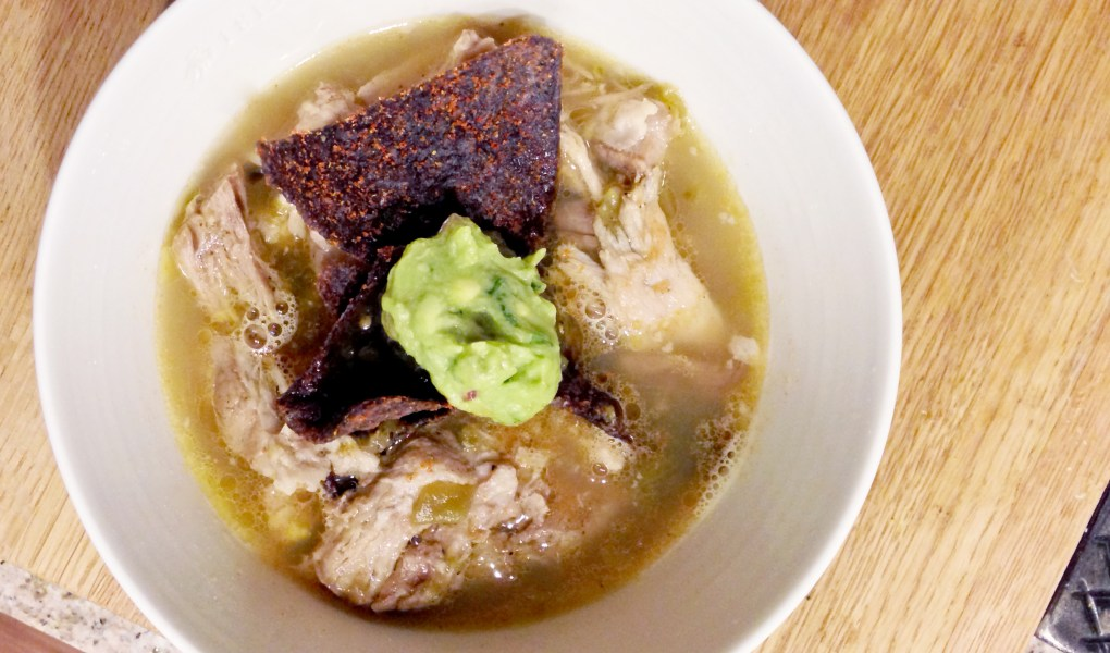 gluten free green chili pork tortilla soup