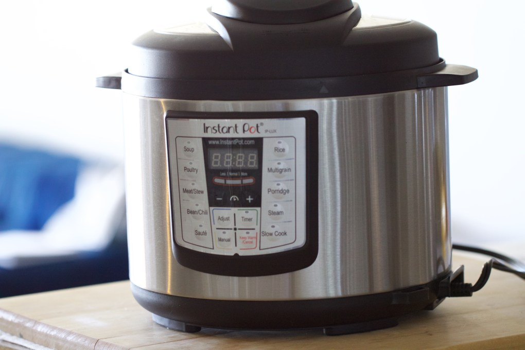 Instant Pot Pressure Cooker on kitchen counter