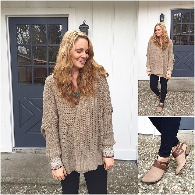 Knitting my own oversized cardigan inspired by free people.