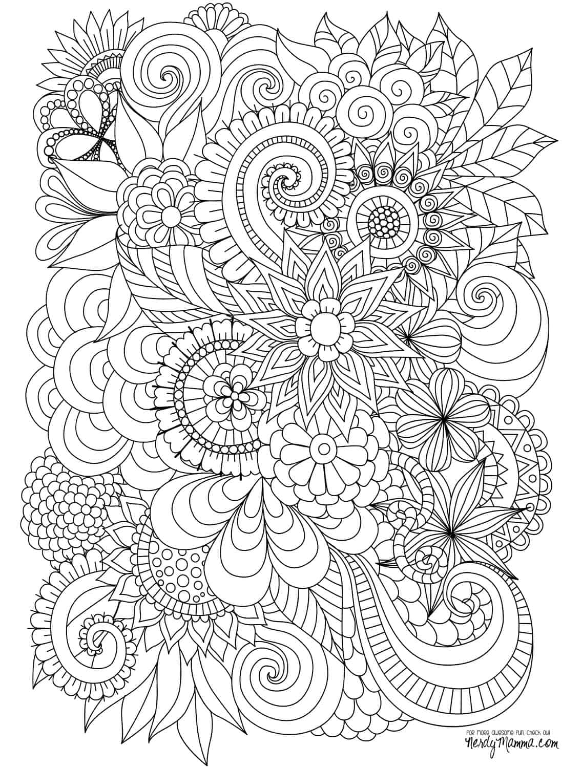 flower adult coloring pages 11 free printable adult coloring pages