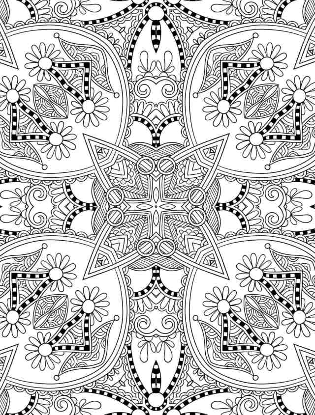 28 Free Printable Holiday Adult Coloring Pages