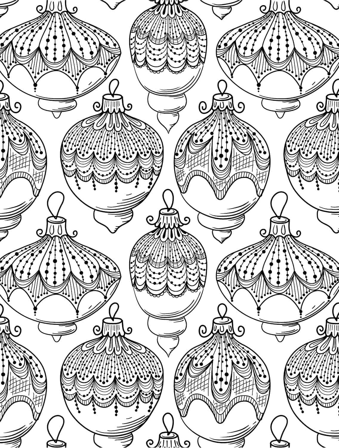10 Free Printable Holiday Adult Coloring Pages | christmas colouring pages for adults