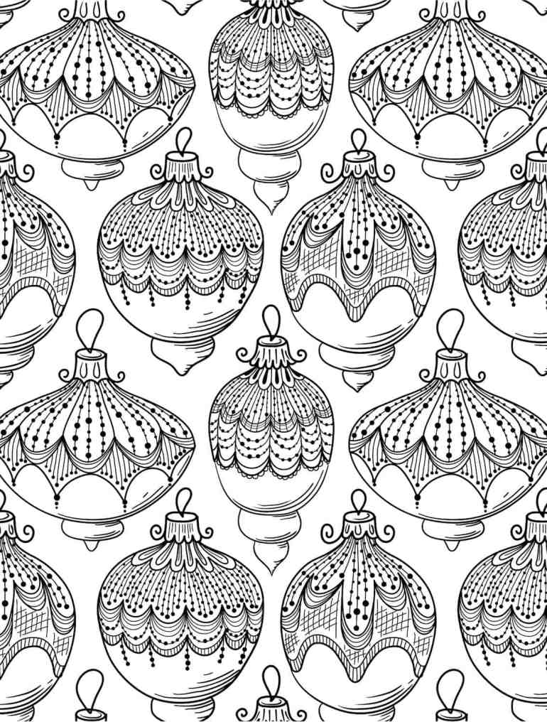 10 Free Printable Holiday Adult Coloring Pages   free printable christmas coloring pages for adults